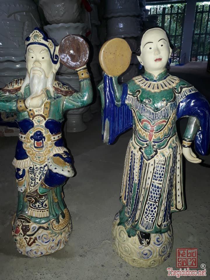 Tượng Ông Tơ Bà Nguyệt cao 60cm có mộc lò gốm Biên Hòa lành tích zalo: 0776218163