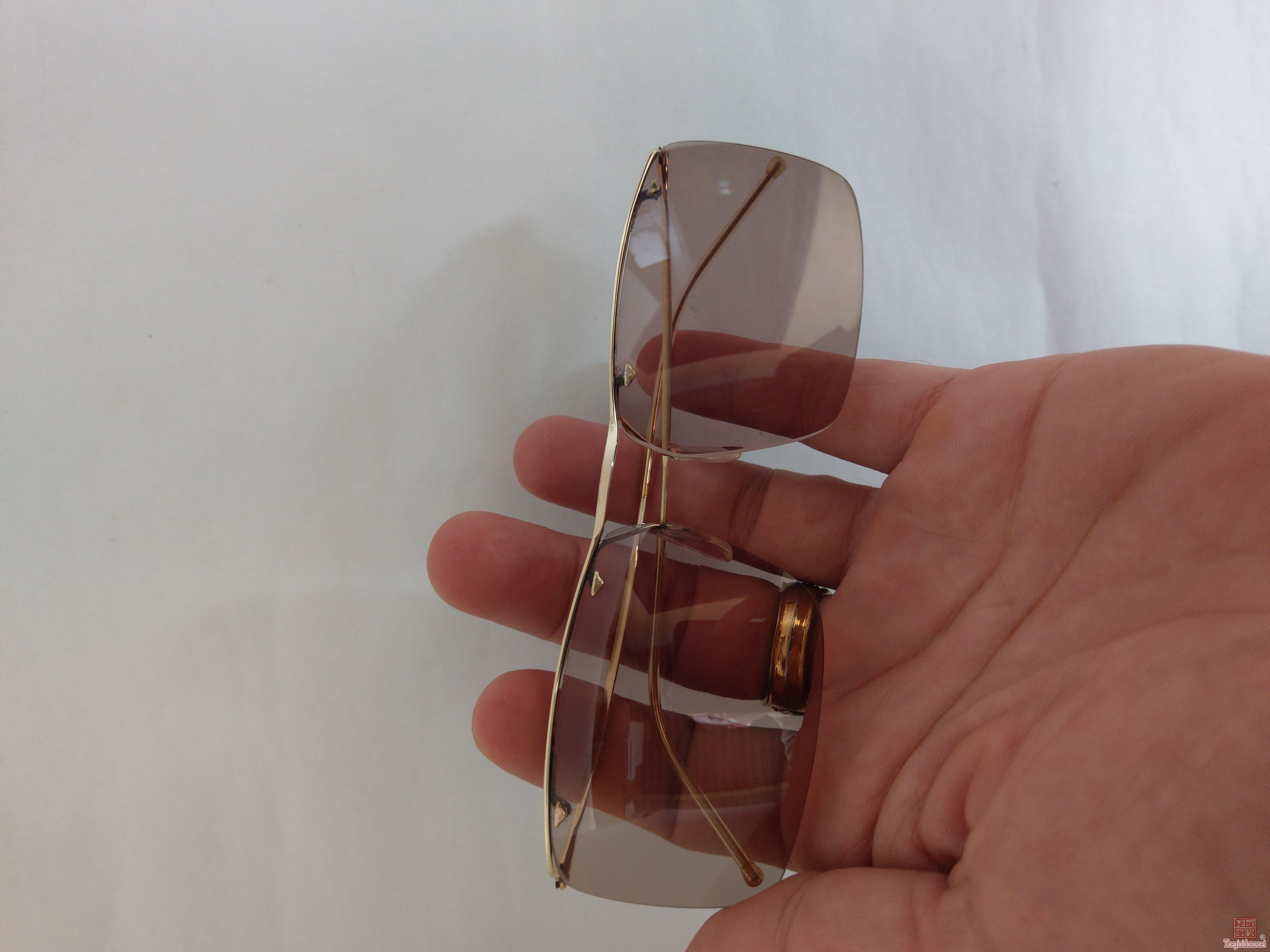 kính Sam nhạn của Pháp bọc vàng nguyên bản siêu nhẹ