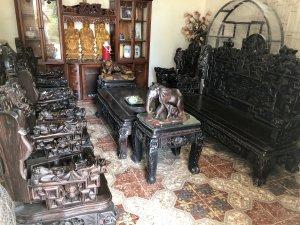 Bộ bàn ghế gỗ mun