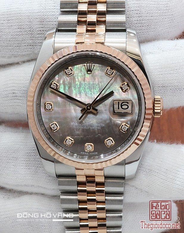 Rolex Datejust 116231 Mặt Xà Cừ Tím. Size 36. New 98% 2017.