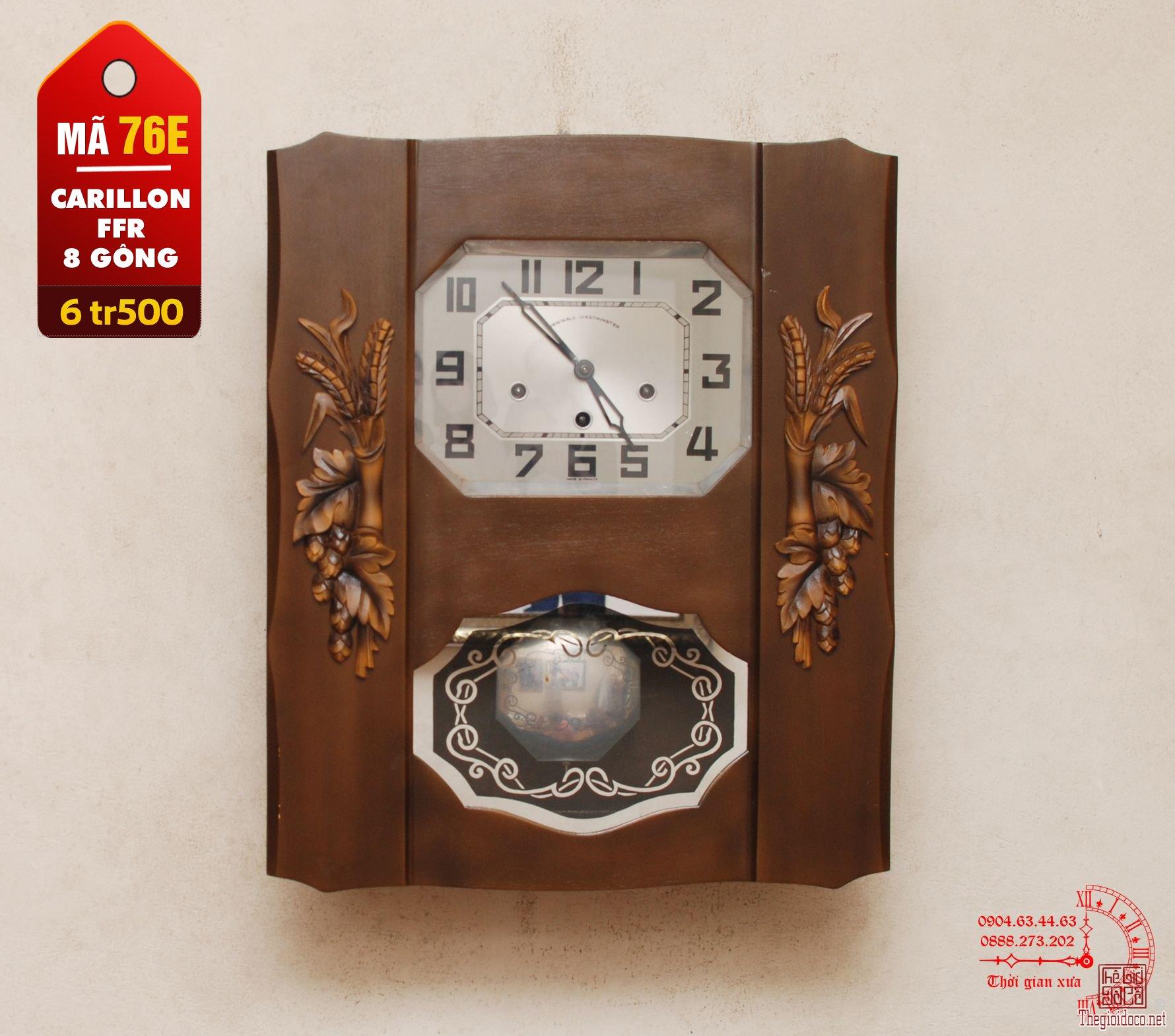 Đồng hồ Pháp hiệu Carilon FFR, 8 gông (mã 76E)