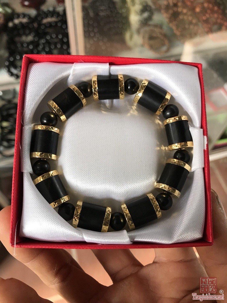 Ms 9909.Vòng đốt trúc bọc vàng 24k gỗ mun sừng,giá sỉ.Lh/zalo:0968 551 668