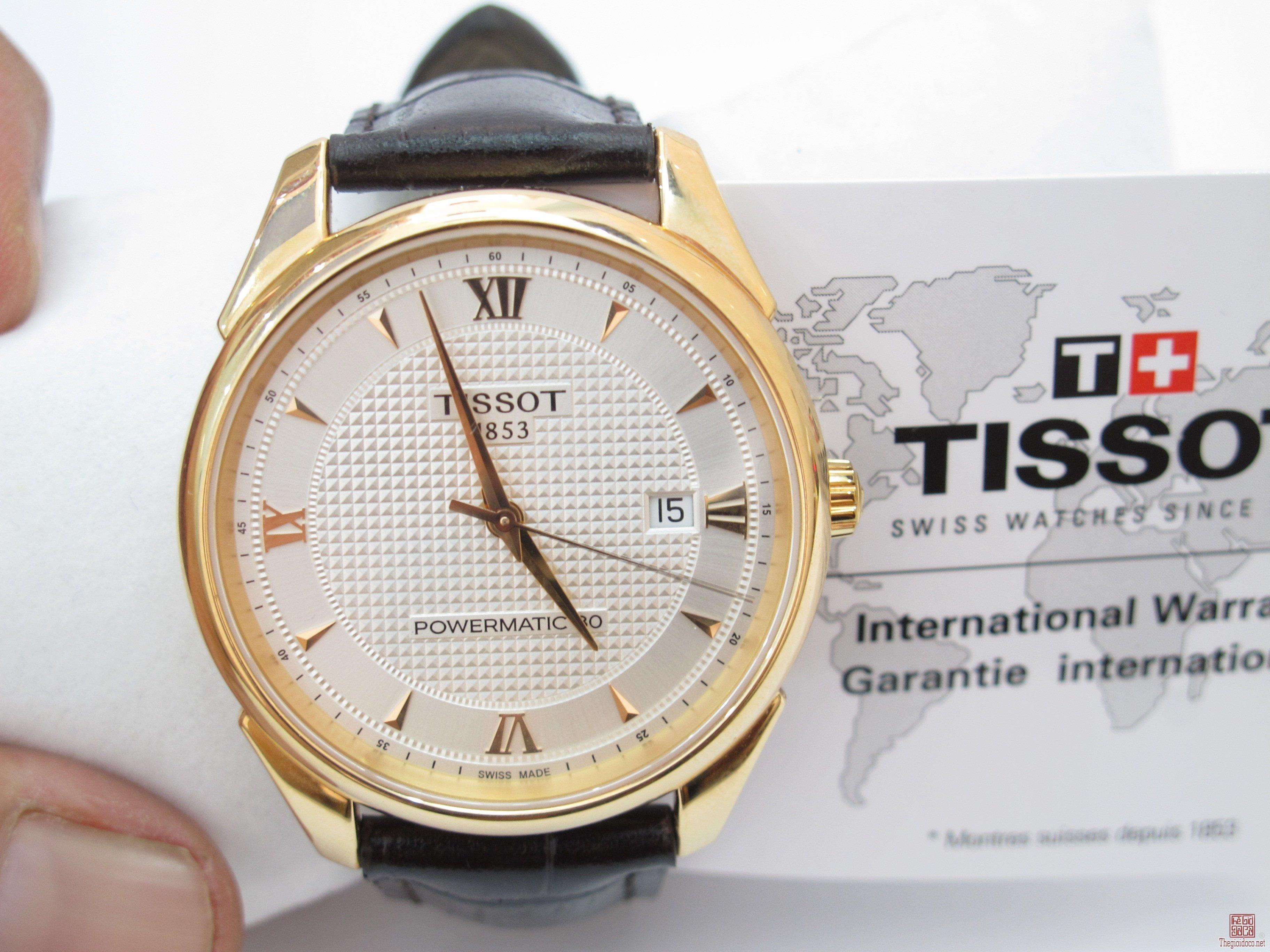 Đồng Hồ TISSOT Vàng nguyên khối 18K Size 40 mm Mới 99,99% Fullboox