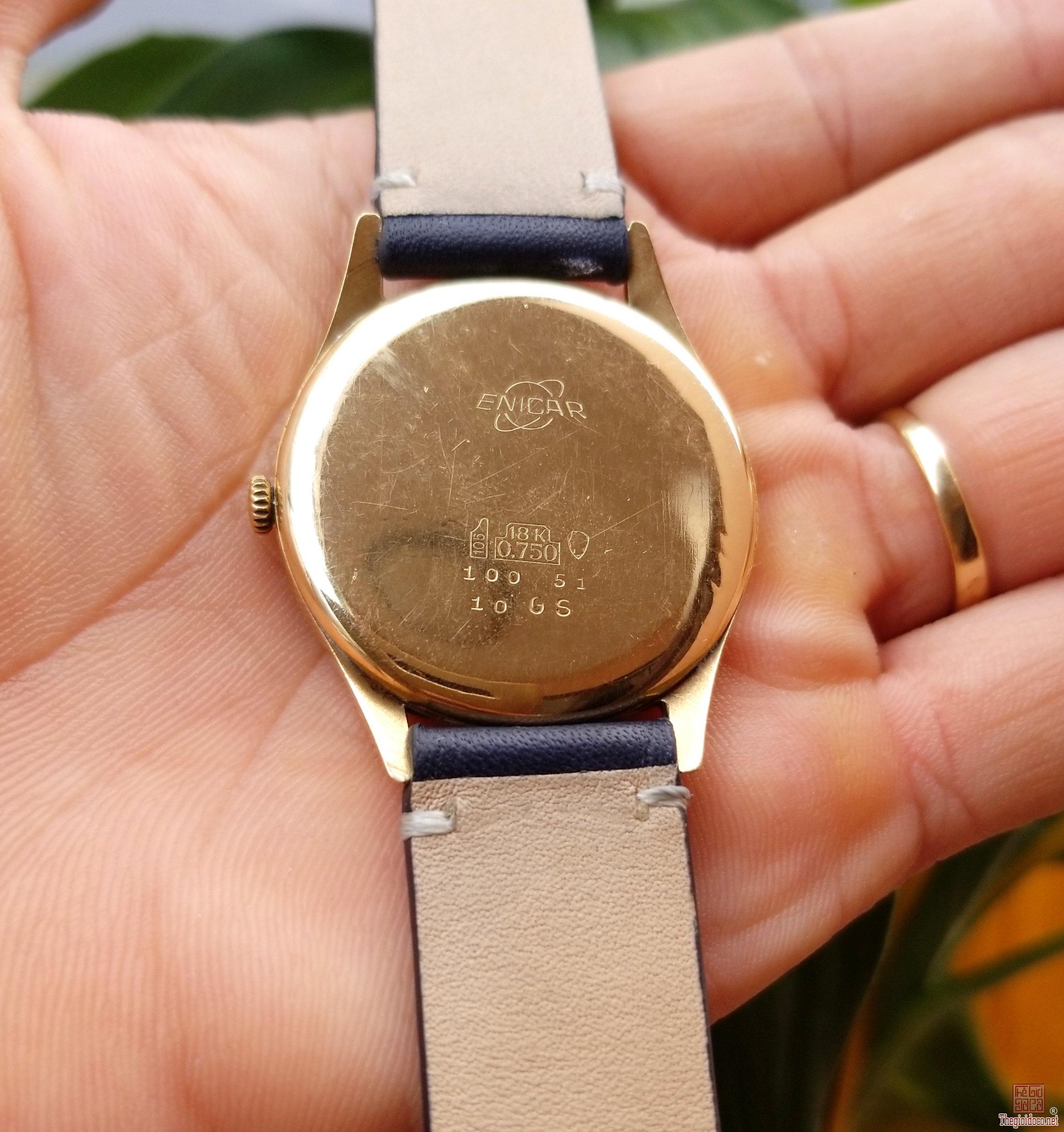Đồng hồ xưa lên dây ENICAR 750 Thụy Sỹ
