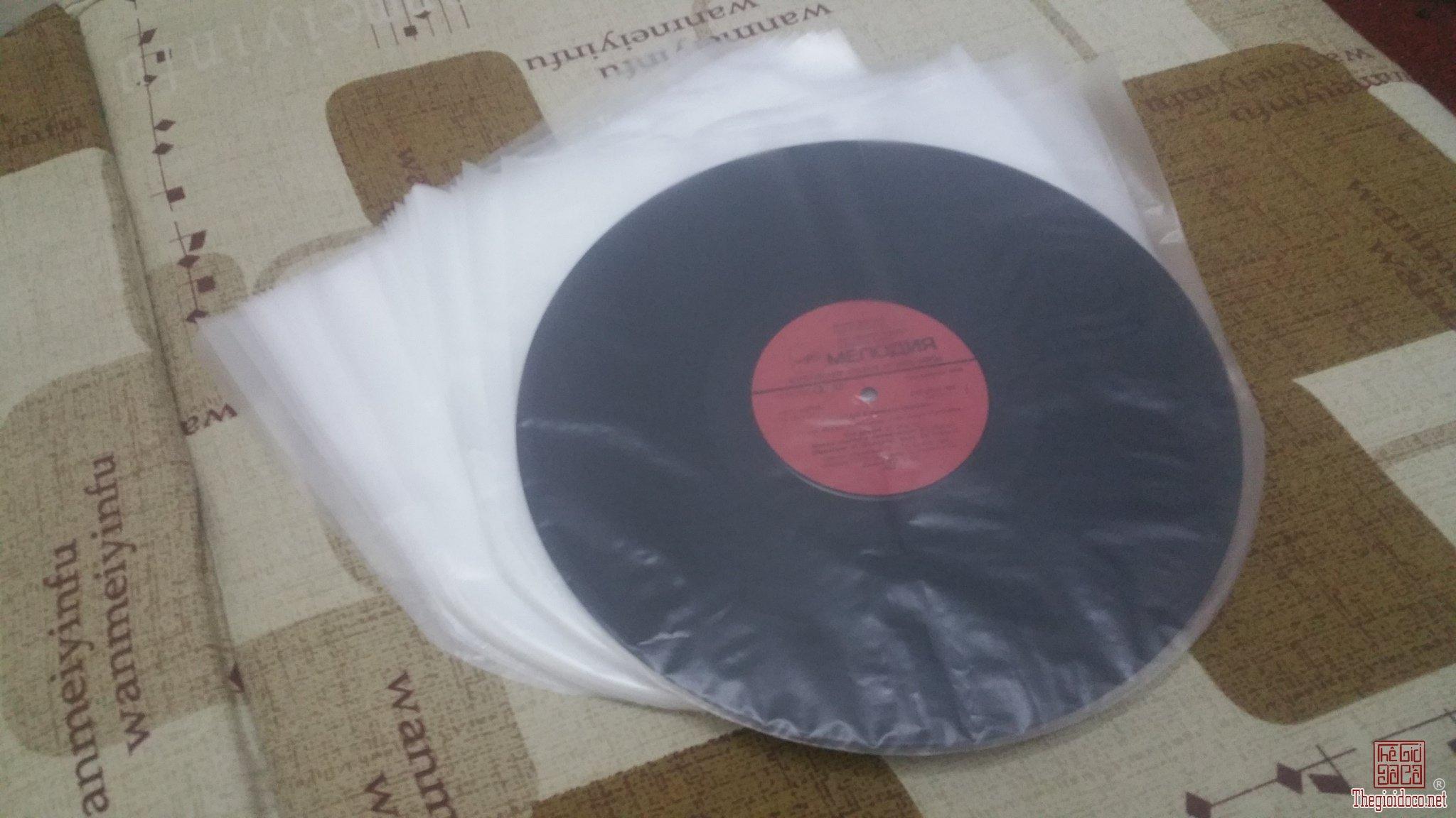 Túi nhựa chống tĩnh điện cho đĩa LP và LD số lượng 20 chiếc = 100 nghìn