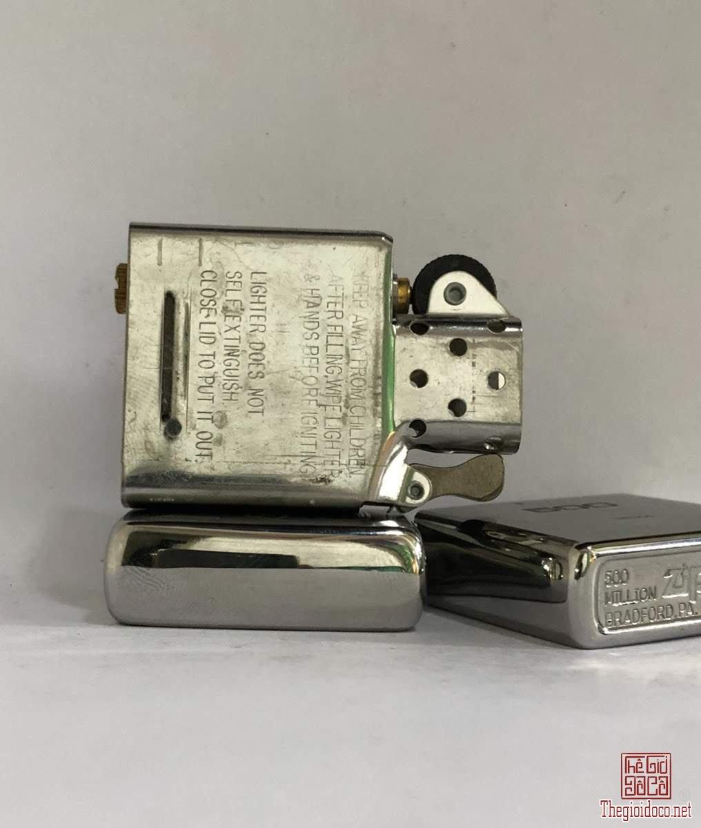 A121- brush chrome 2012 Limit No :160304, phiên bản đặc biêt kỷ niệm chiếc zippo thứ 500 triệu S