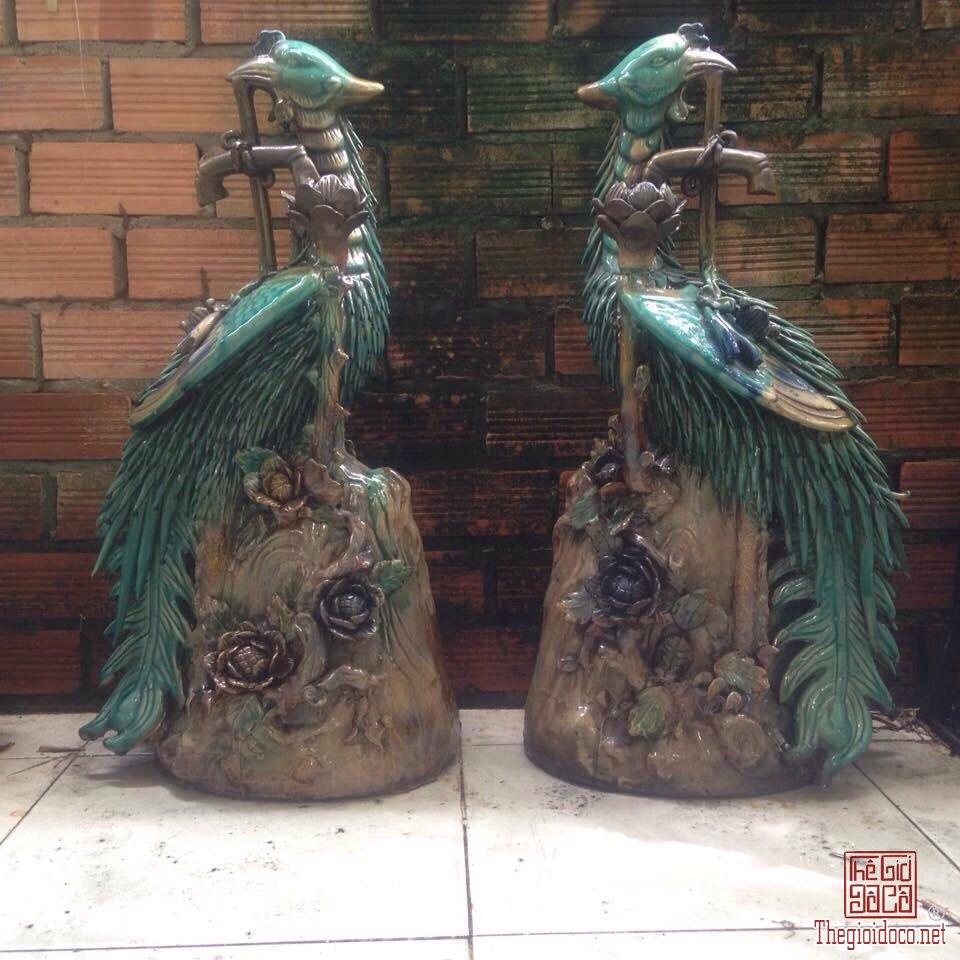 Phượng Đèn 75cm - Đôn Rồng 5 móng Tam Long - Đỉnh Lư Rồng 5 móng Cửu Long zalo:  0776218163