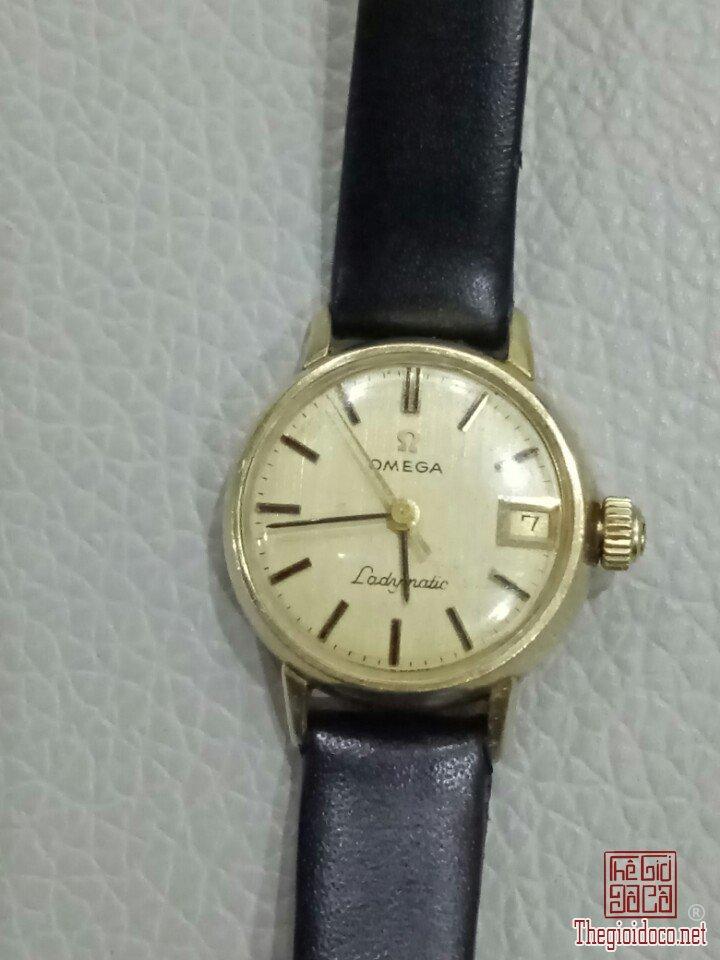 Đồng hồ vàng đúc 14K: Omega ladymatic - Thụy Sĩ