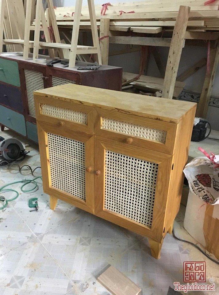 Tủ gỗ vintage 2 ngăn