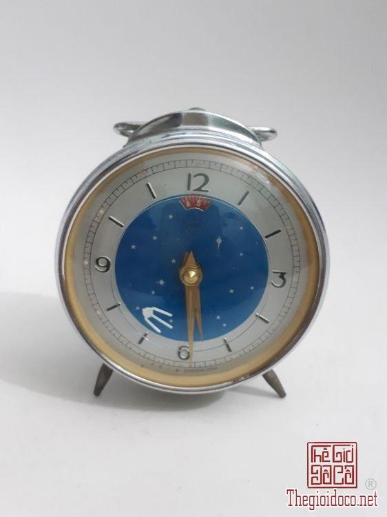 đồng hồ vệ tinh xưa máy nguyên bản, vỏ sáng đẹp