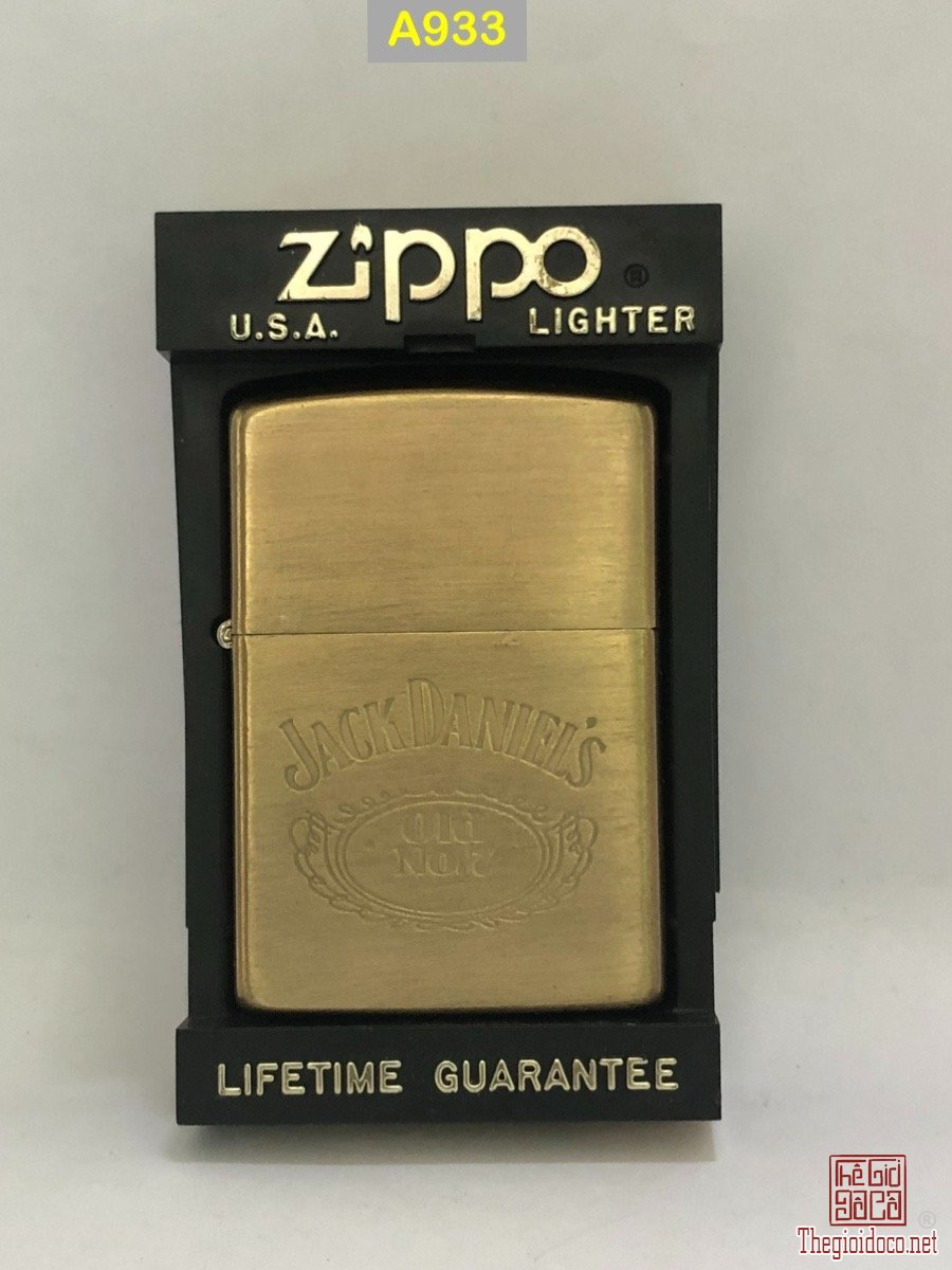 A933- brush brass 1993 JACK DANIEL'S -