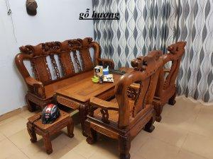 Nhà chật bán bộ ghế gỗ hương tay 12