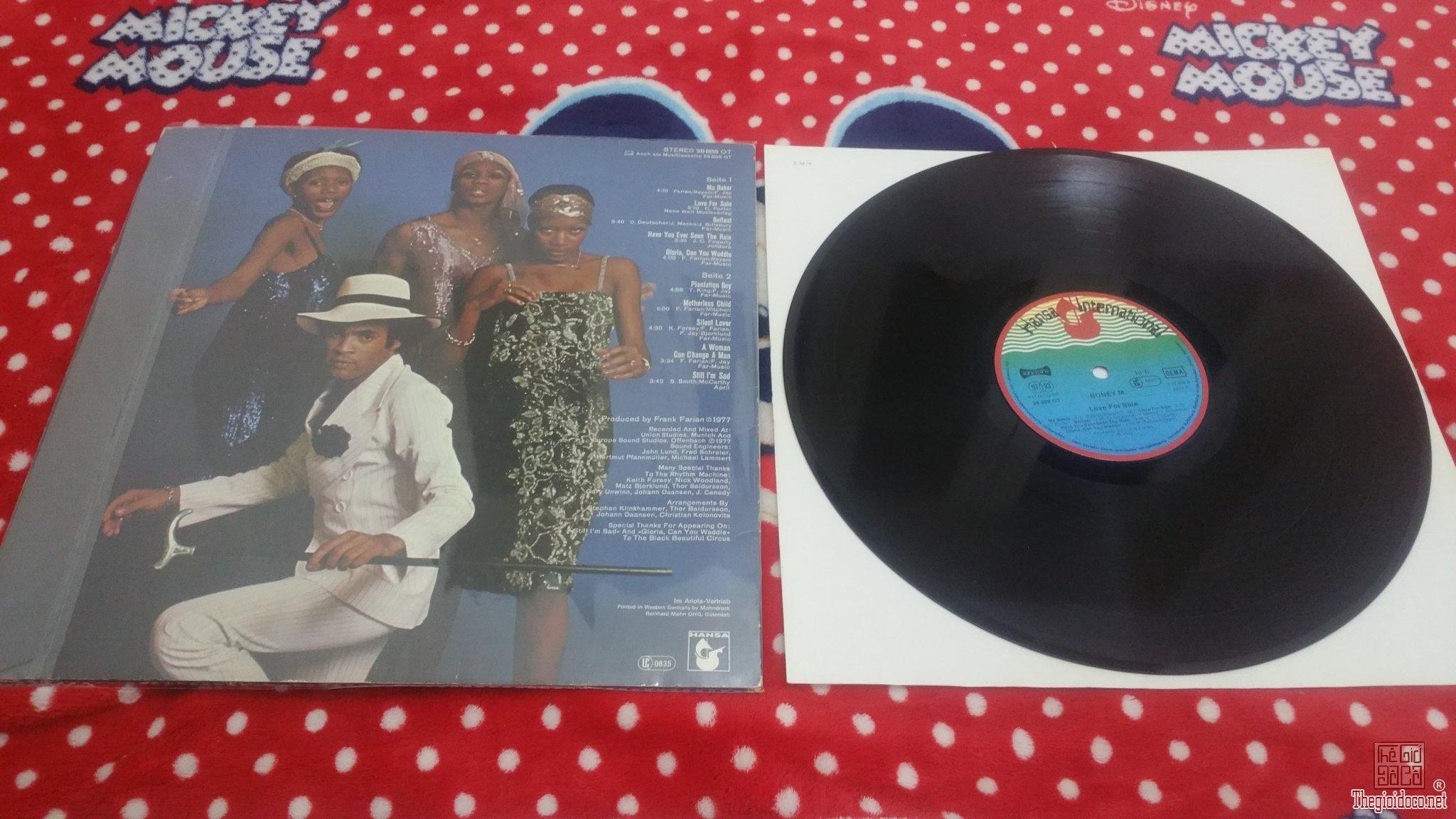 Đĩa than LP Boney M (Đĩa đẹp - Mới 99%)