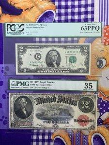 Giao lưu 2$ cổ các năm 1917,...