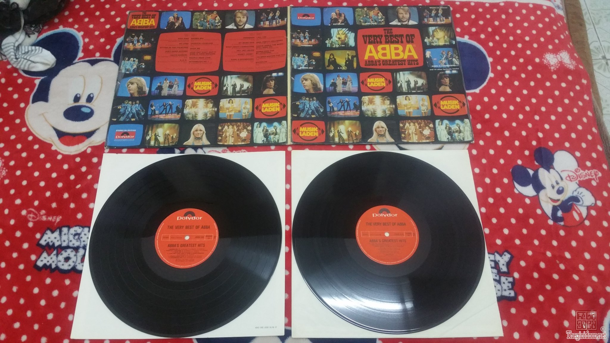 2 đĩa than LP ABBA The Very Best Of ABBA (Đĩa đẹp - Mới 99%)