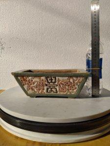 Chậu chữ nhật gốm Biên Hoà -MS174