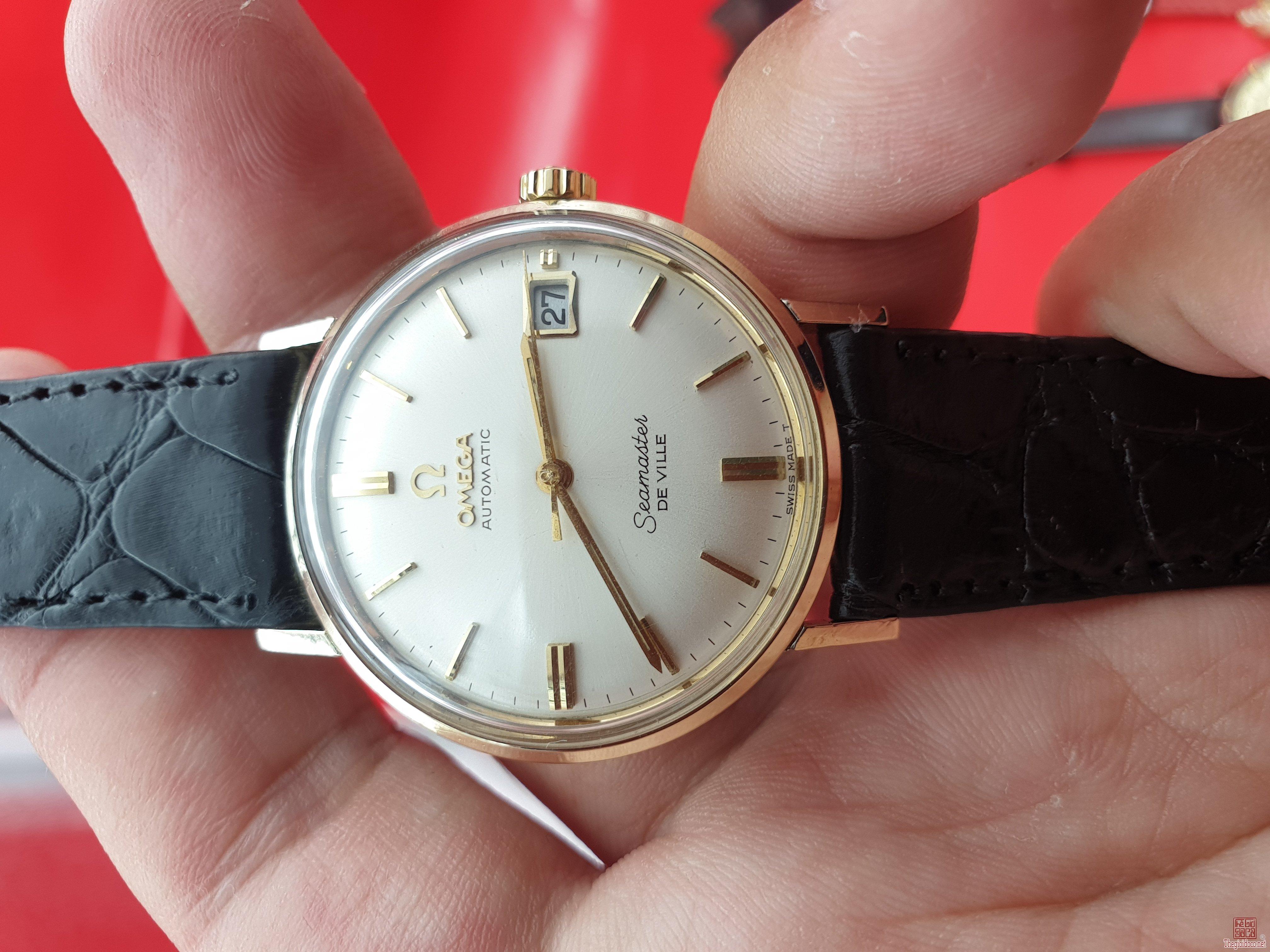 Omega seamaster deville vỏ bọc vàng 14k xưa chính hãng thụy sỹ 1960s