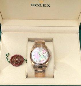 rolex 118205 vỏ vàng hồng 18k