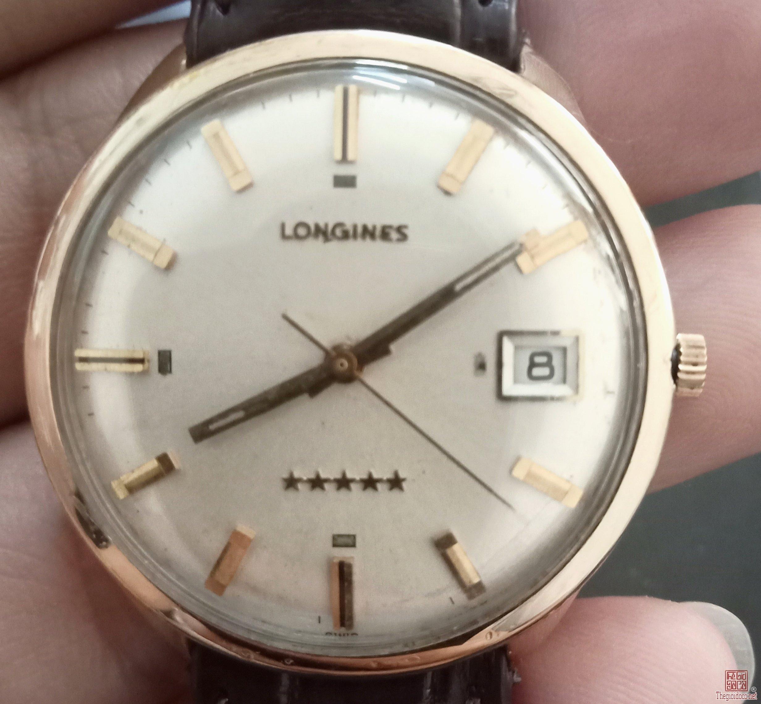 Đồng hồ LONGINES Đô Đốc 5 Sao bọc vàng 10K Gold Filled