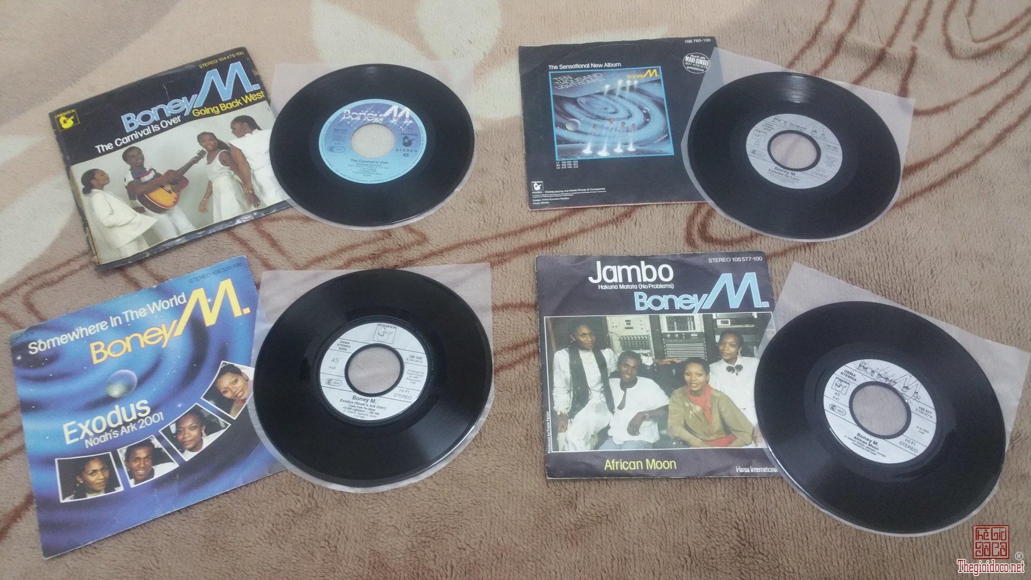 4 đĩa than 45 vòng - Boney M (Bán cả 4 đĩa = 900 nghìn đồng)