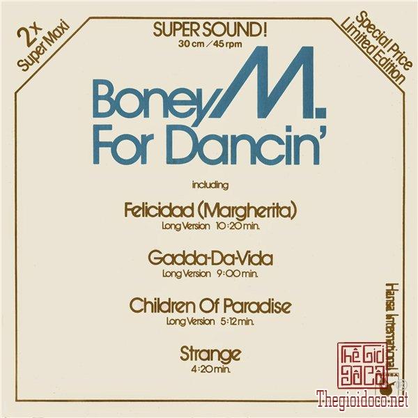 Đĩa than (45 vòng - 30 cm) Boney M / For Dancin (Limiter Edition - Phiên bản giới hạn)