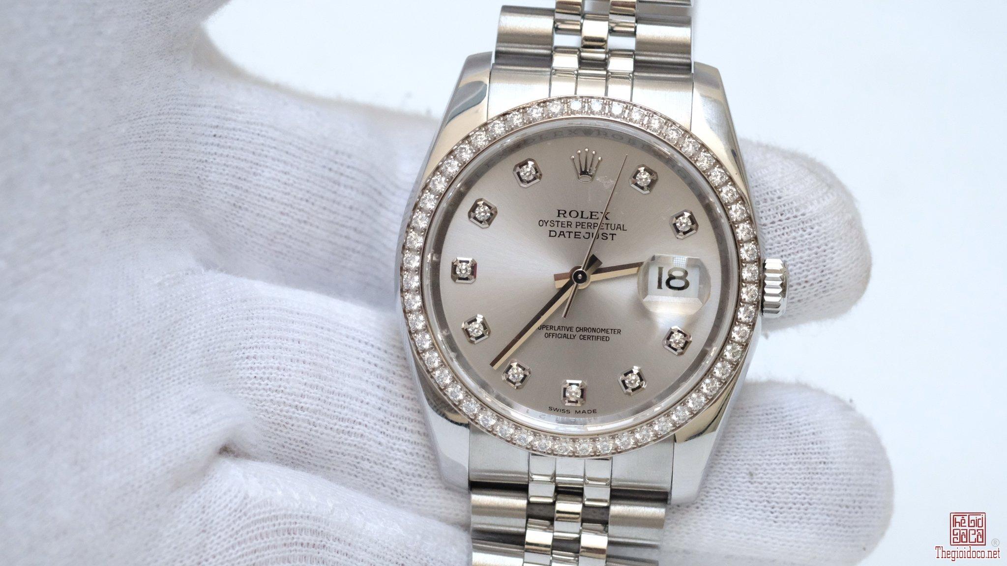 Đồng hồ Rolex Date Just 116244 vành kim zin chính hãng