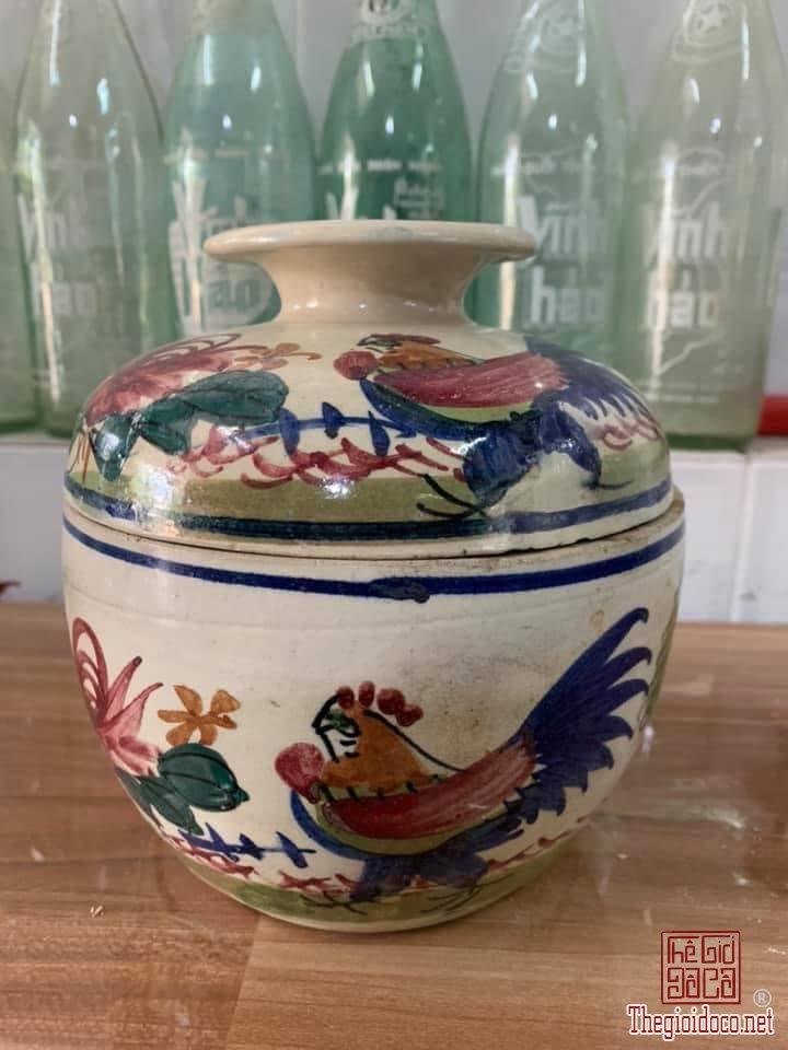 Thố gà màu Nam Bộ xưa 16,5cm x 16cm chi tiết như hình còn đẹp zalo: 0776218163.