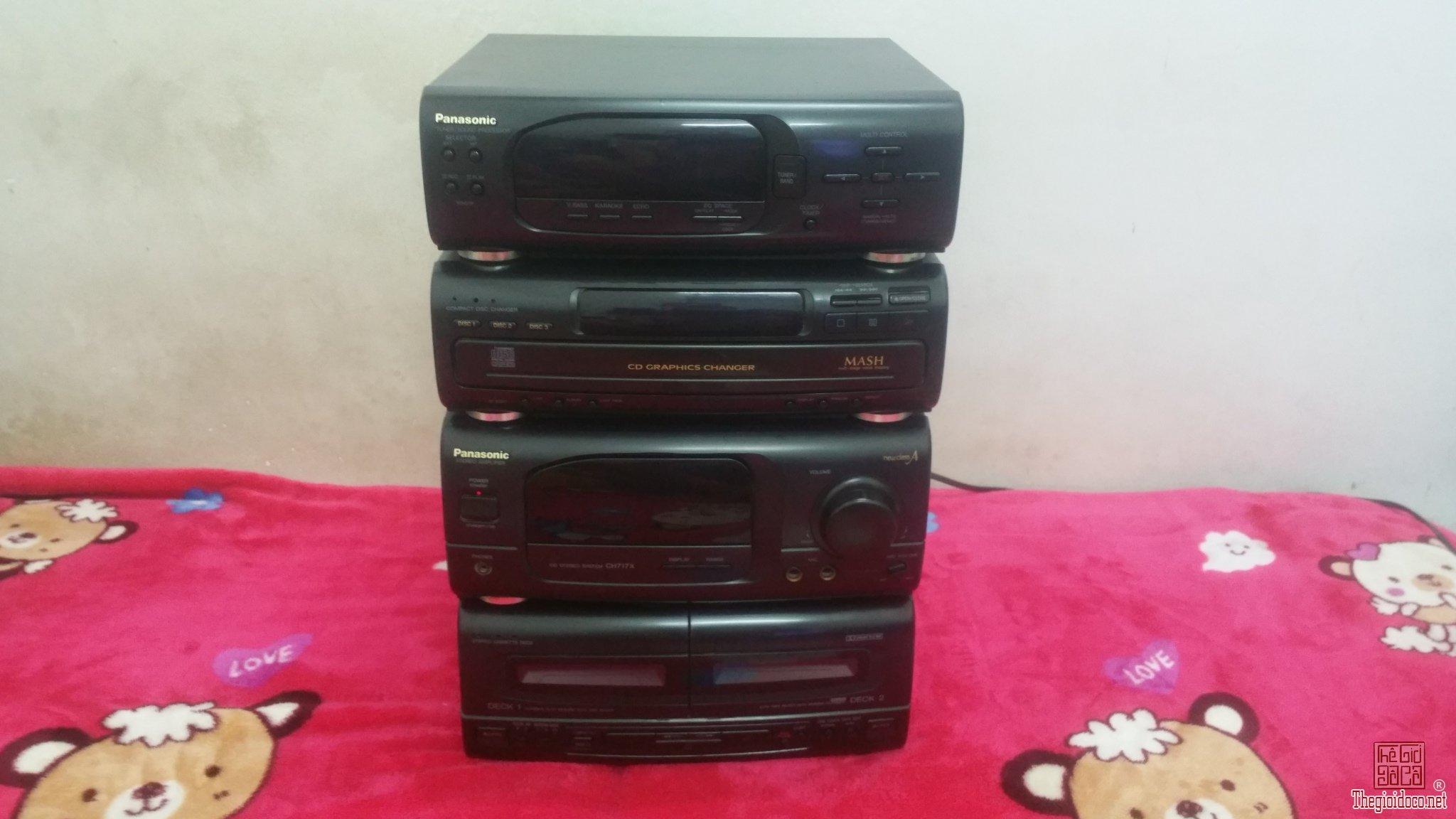 Thanh lý 4 cục giữa dàn đại Panasonic SE - CH717X (Made in Japan)