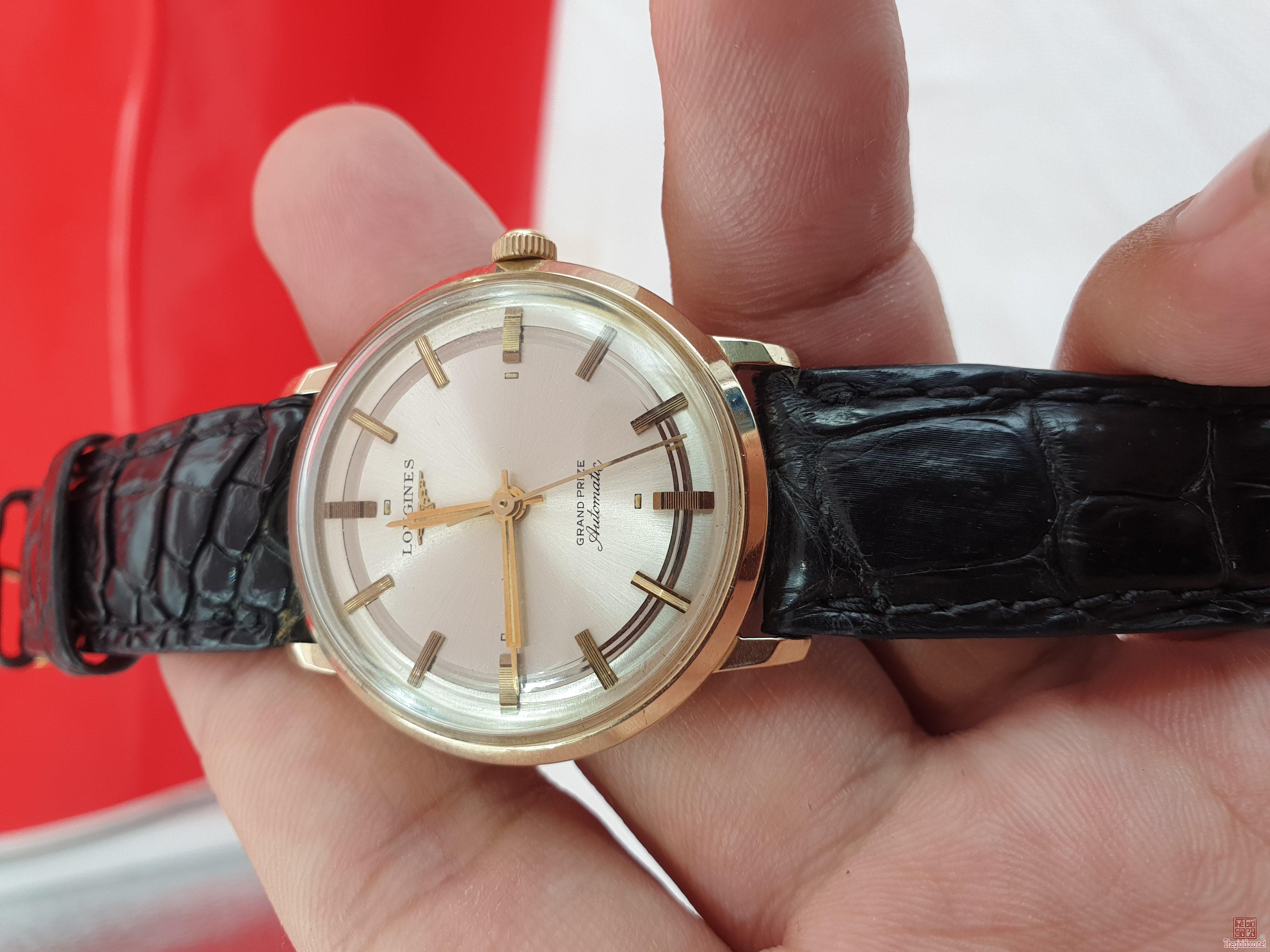 Đồng hồ Longines grand prize vỏ đơmi xưa chính hãng thụy sỹ