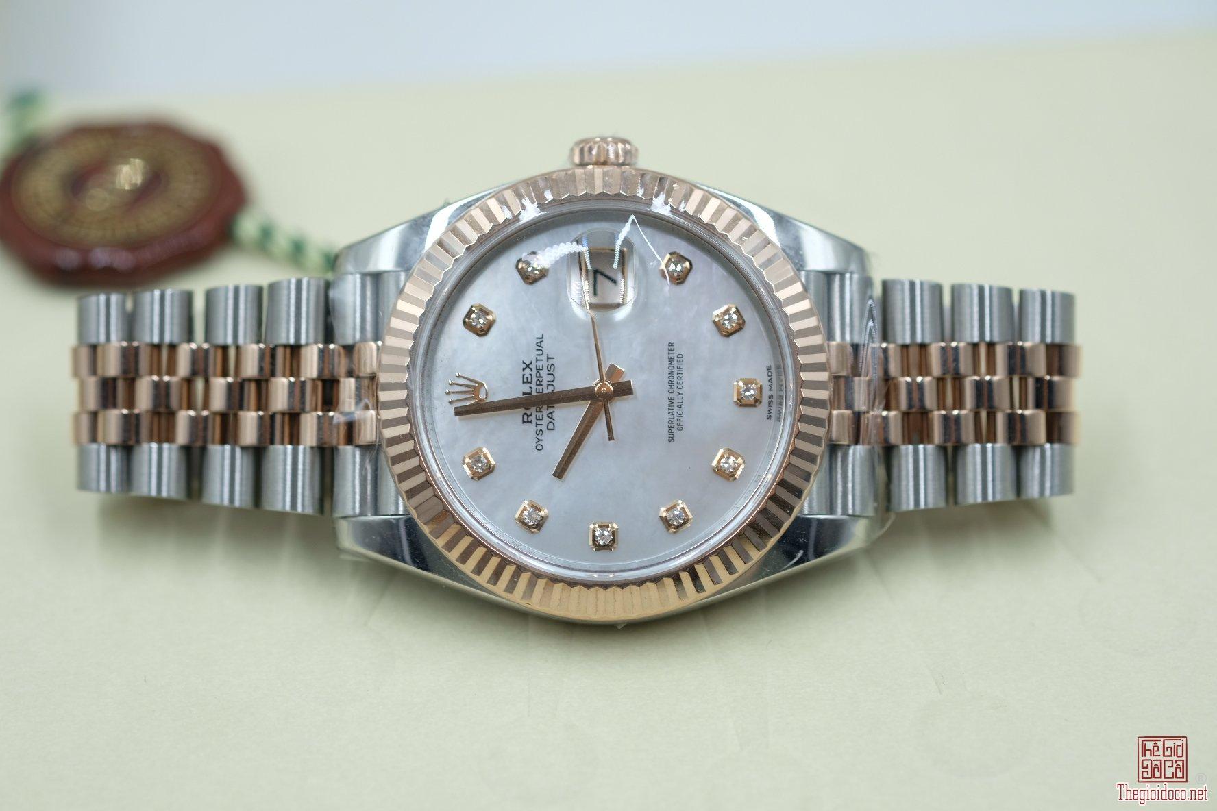 Đồng hồ Rolex Date-just 126331 Demi vàng hồng 18k