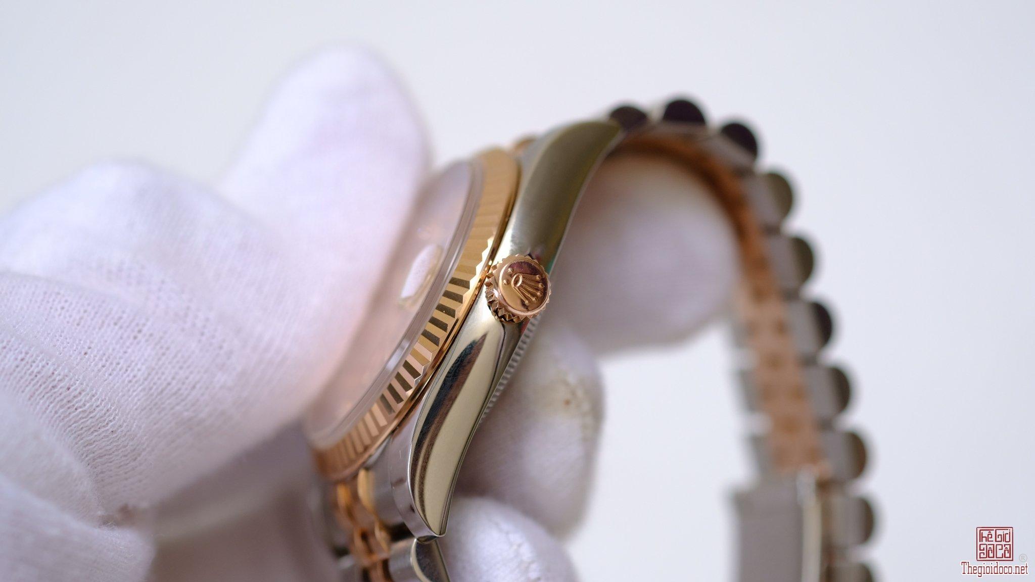 Đồng hồ Rolex Date Just 116231 mặt vi tính hồng cọc số kim cươn