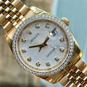 Rolex Datejust 118208f vỏ vàng...