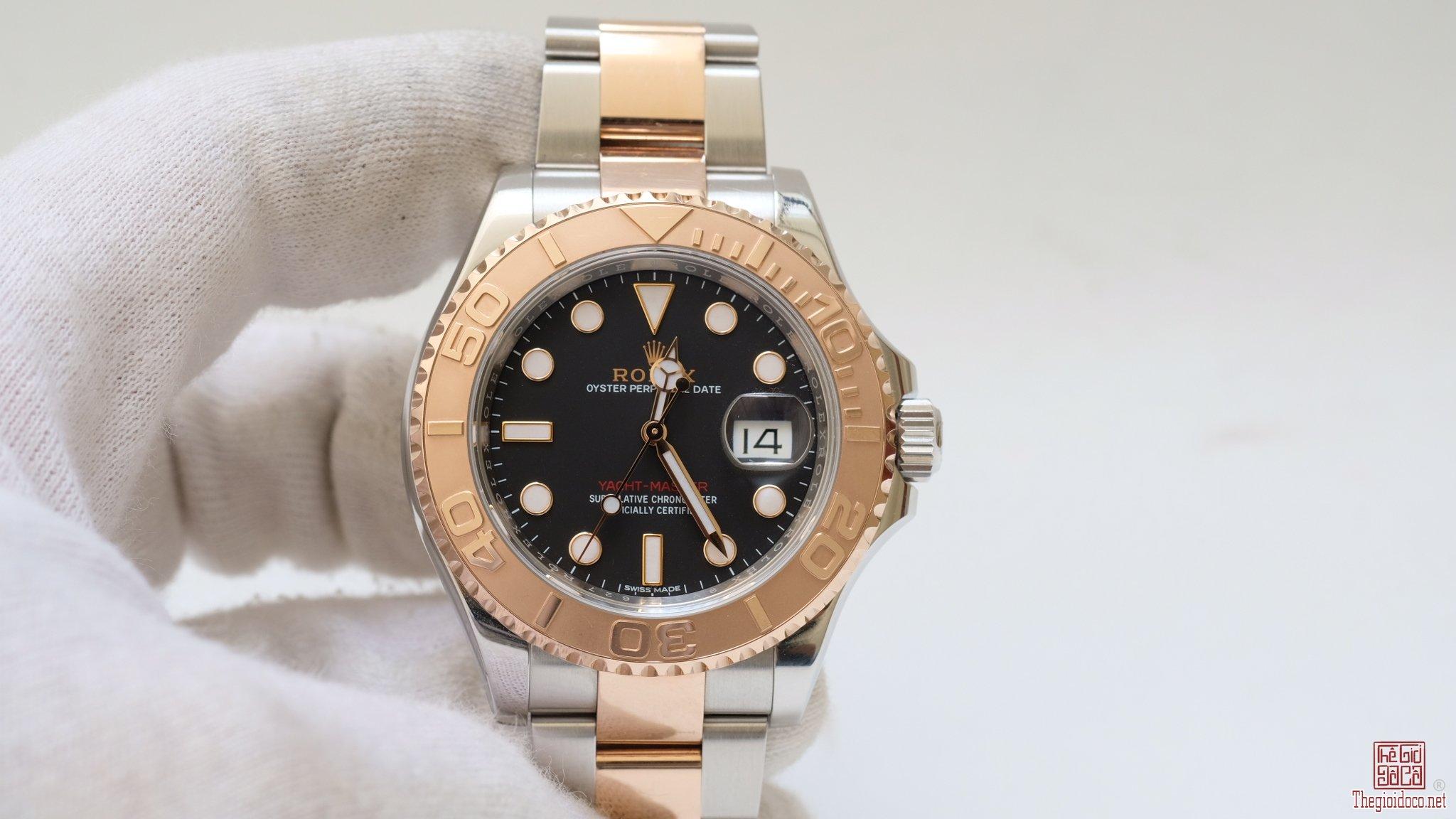 Đồng hồ Rolex 116621 Yacht Master mặt đen size 40mm