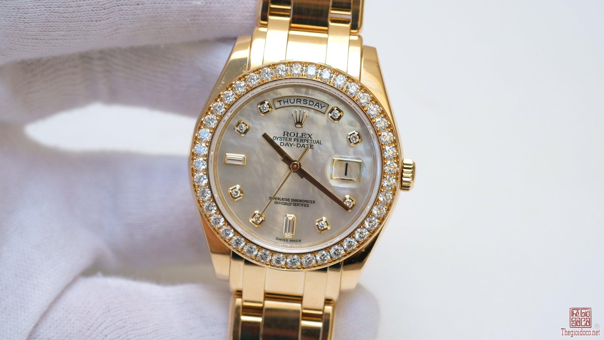Đồng hồ Rolex Day Date 18948 mặt xà cừ size 39mm