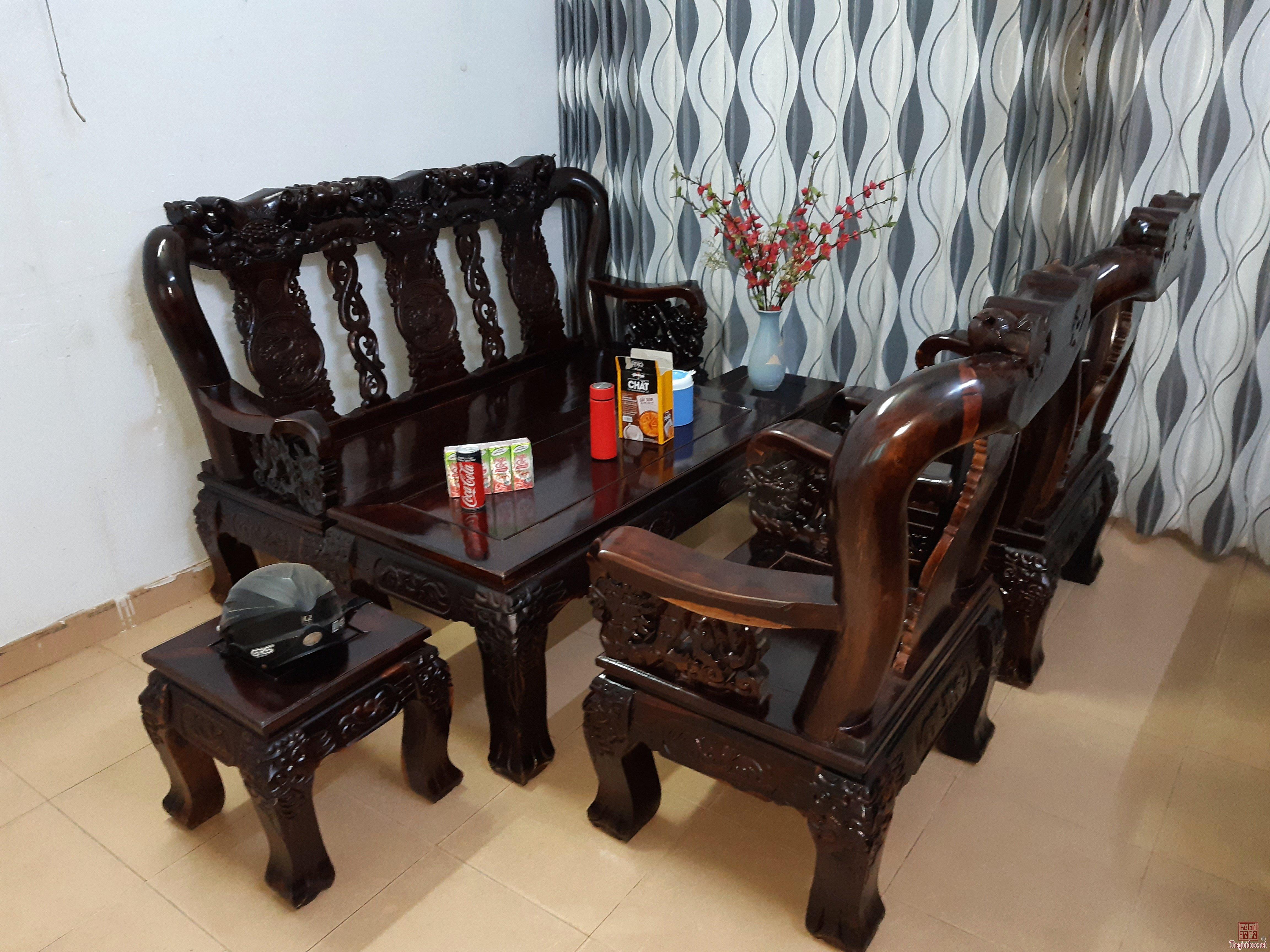 Cần bán bộ ghế gỗ muồng đen tay 12