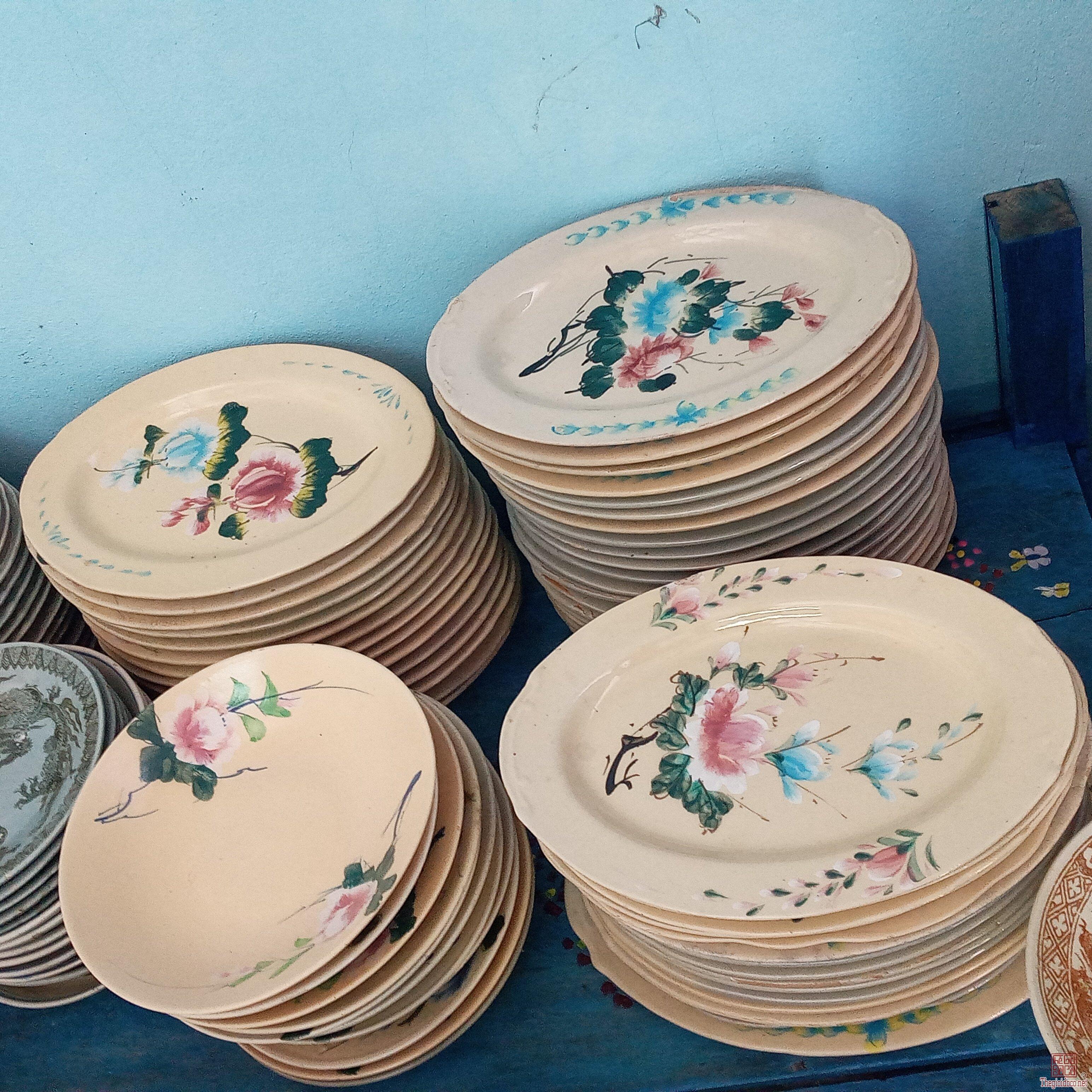 Giao lưu:đĩa bông hoa đào xưa.