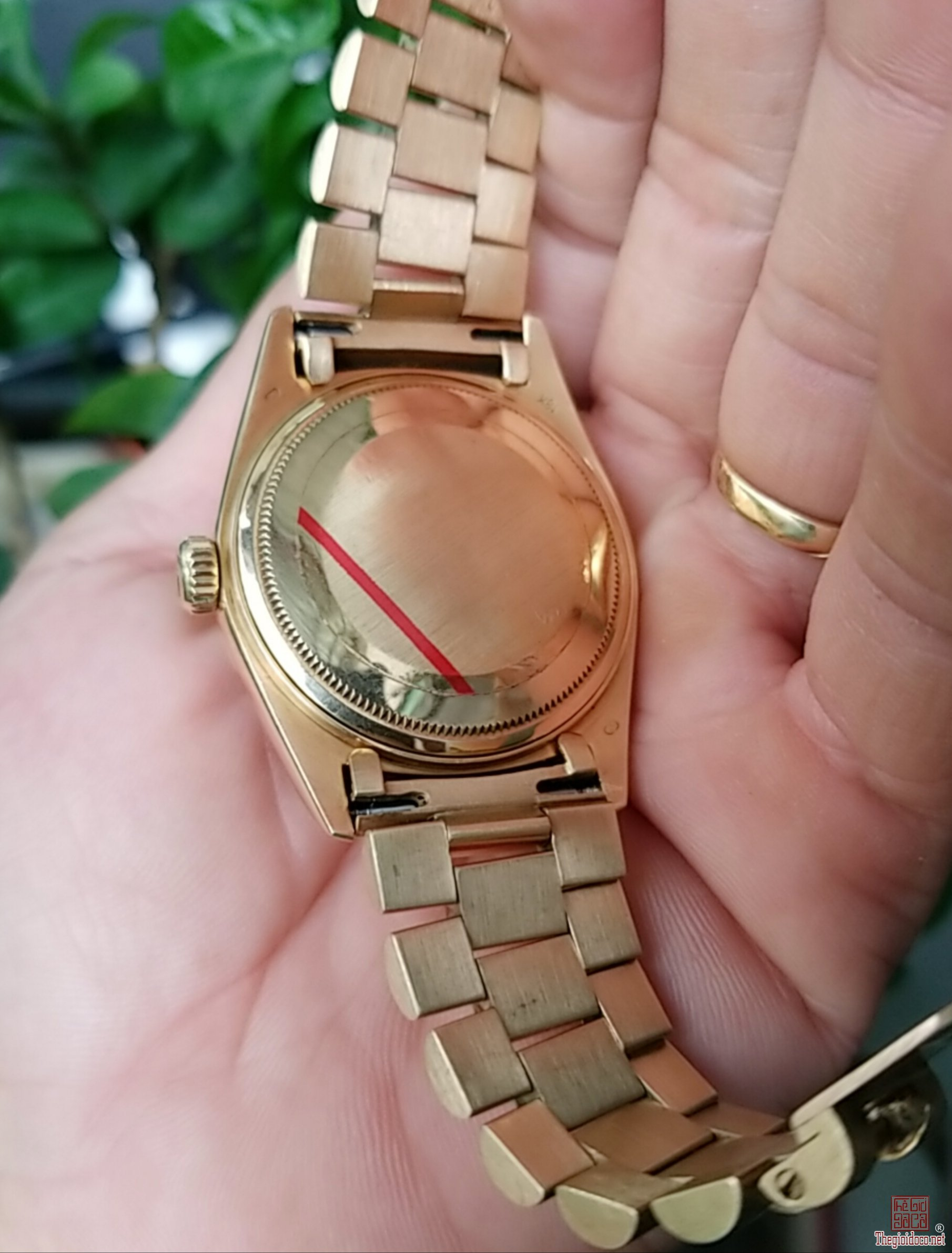 Đồng hồ xưa tự động ROLEX 18K GOLD 5 số 18035