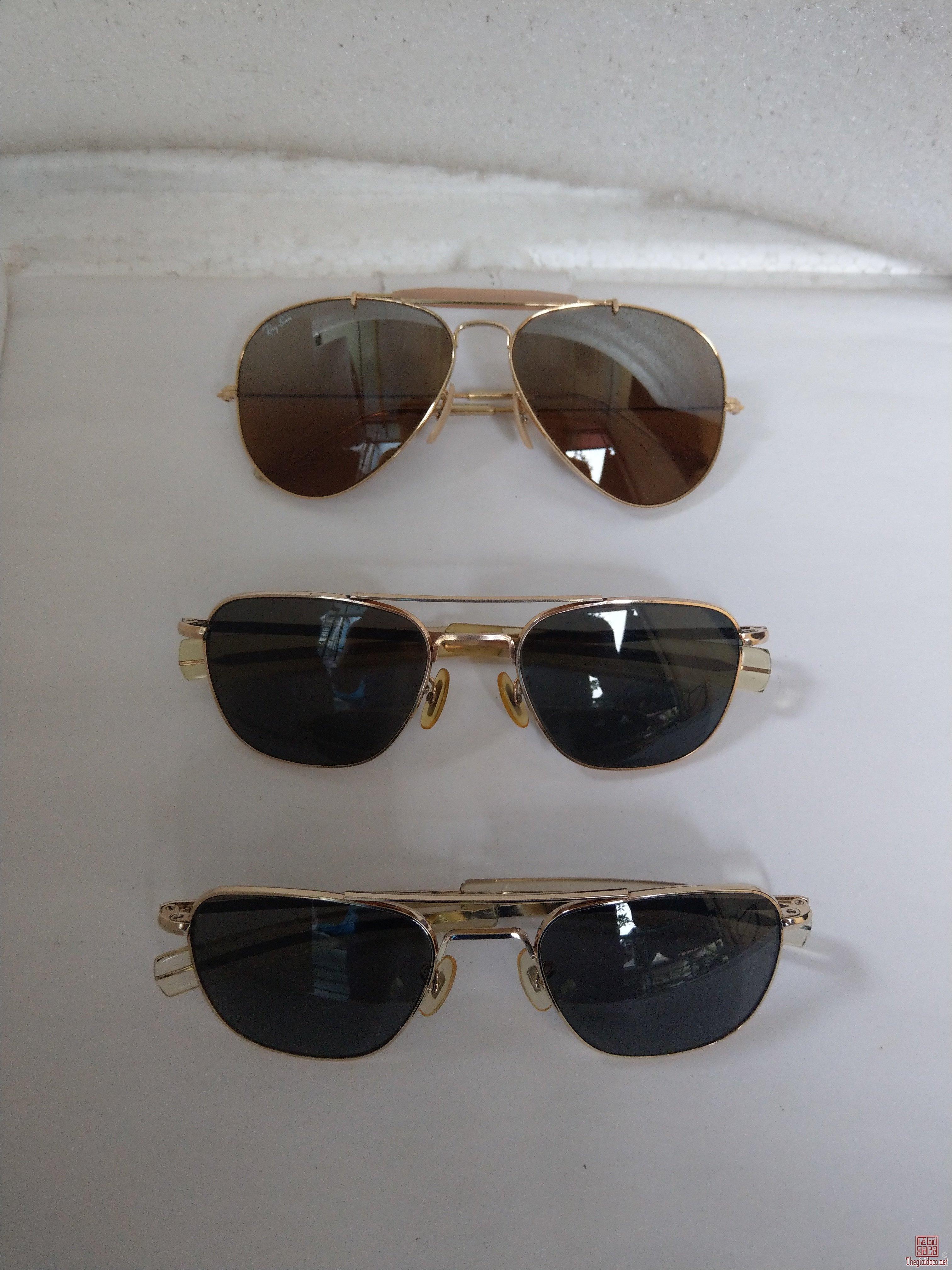 E mới về 3 cái kính cổ mạ vàng, bọc vàng - USA