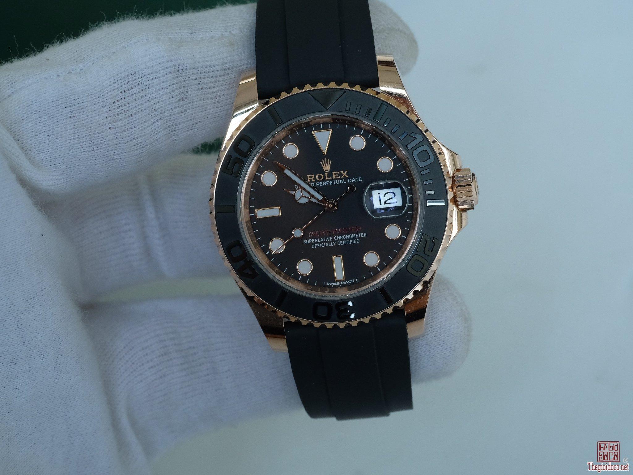 Đồng hồ Rolex 116655 Yacht Master mặt đen size 40mm