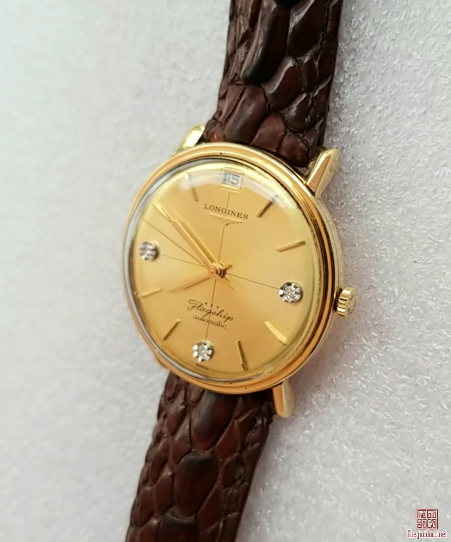Đồng hồ xưa tự động LONGINES 18K GOLD Flagship