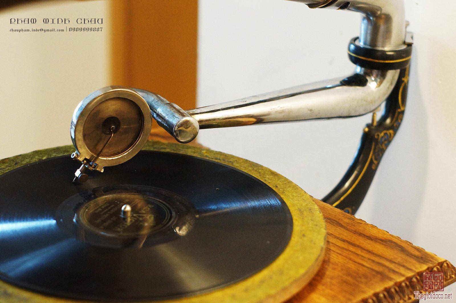 Máy hát loa kèn Victor Type MS Brass Horn giao lưu