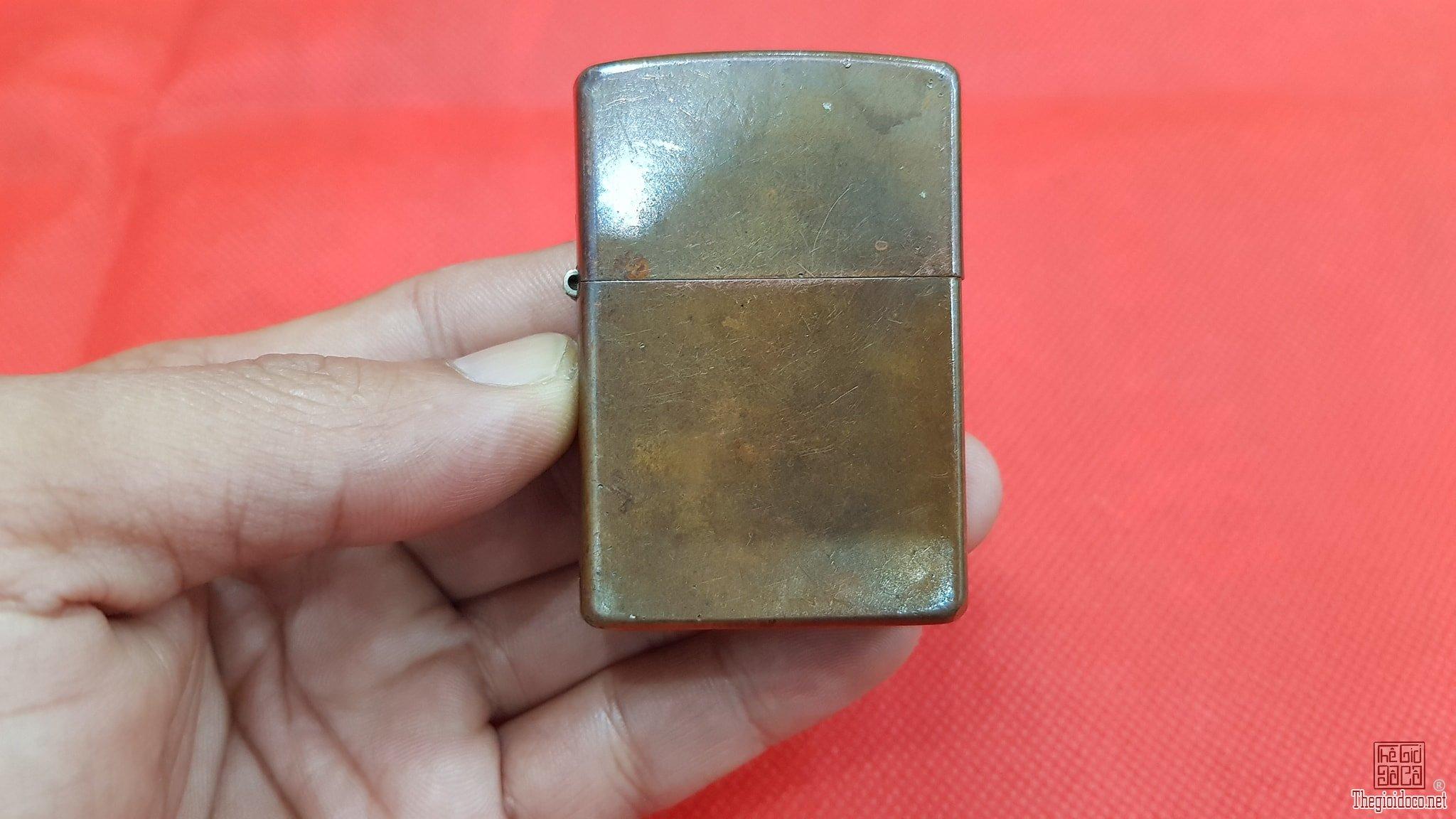 Zippo đồng đỏ copper 03