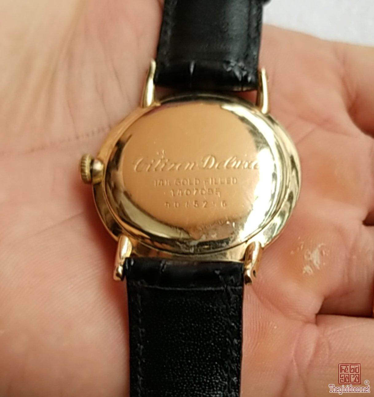 Đồng hồ xưa lên dây CITIZEN DELUX 14K GF