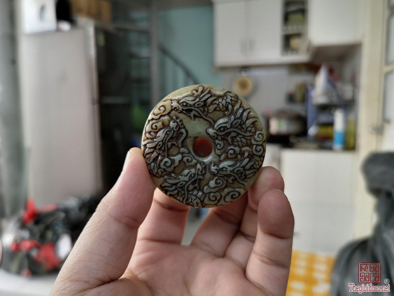 Ngọc bội ngũ long 5 rồng quý hiếm hoa văn đẹp hàng hiếm giá mềm