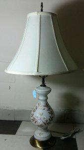 Cặp đèn ngủ bằng thủy tinh mờ,...