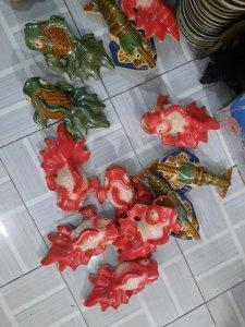Tôm Cá treo tường gốm Biên Hòa...
