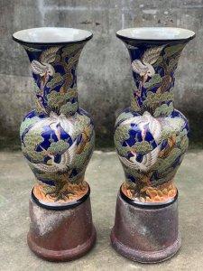 Cặp Lộc Bình Tùng Hạc Cao 60cm...