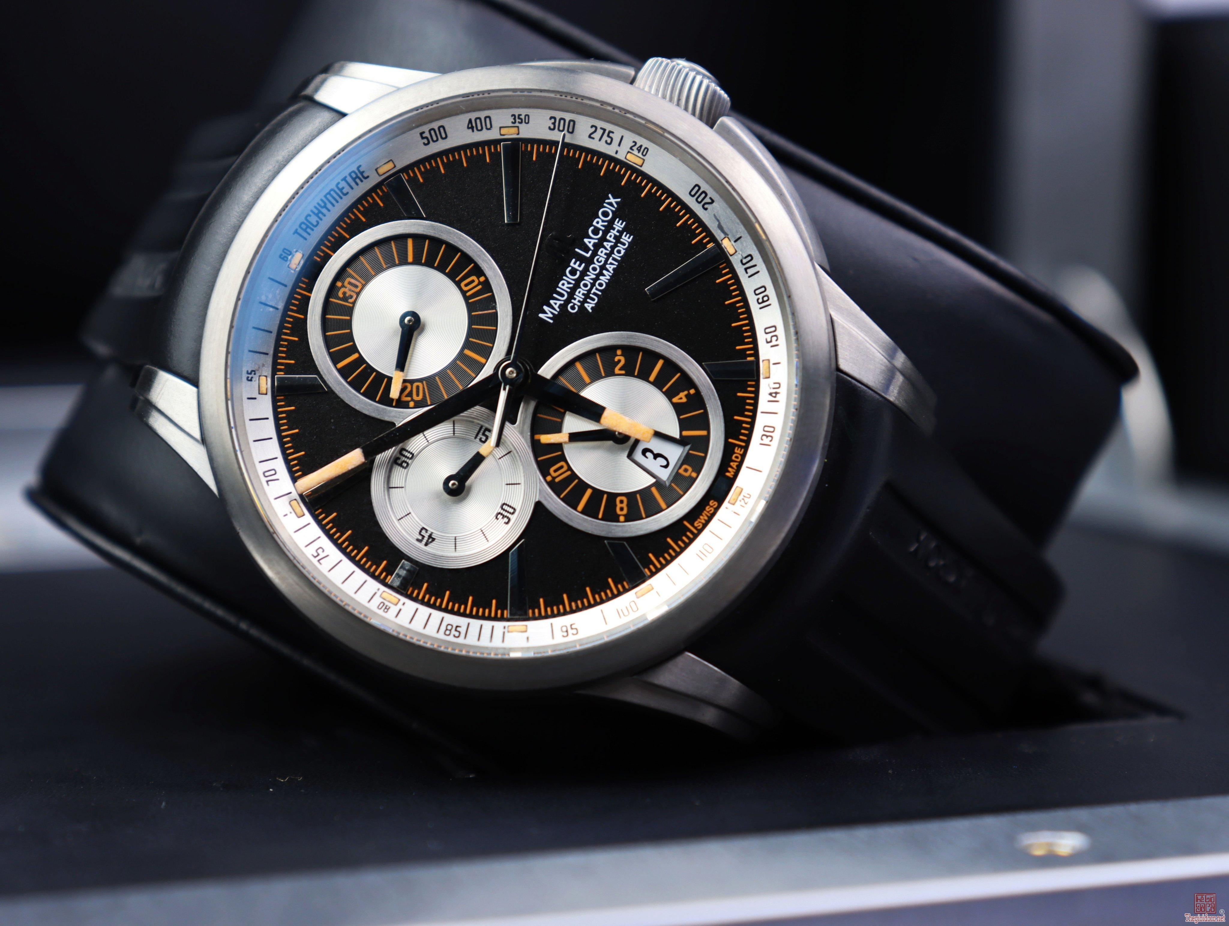 ĐH Nam Maurice Lacroix Automatic 6 kim Dòng Pontos Chronograph Titanium Fullbox
