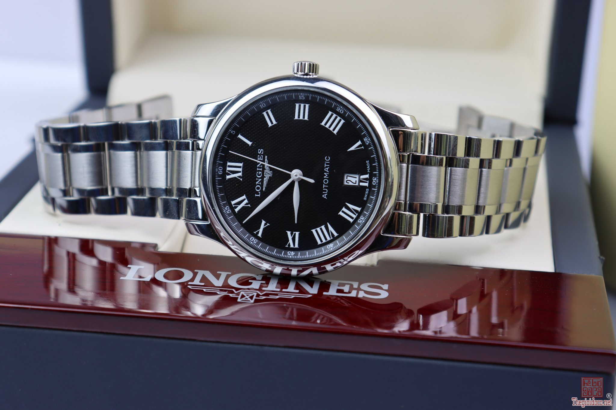 Longines Master Collection Automatic Nam Fullbox Size 38.5 mm New 99% thanh lý giá rẻ