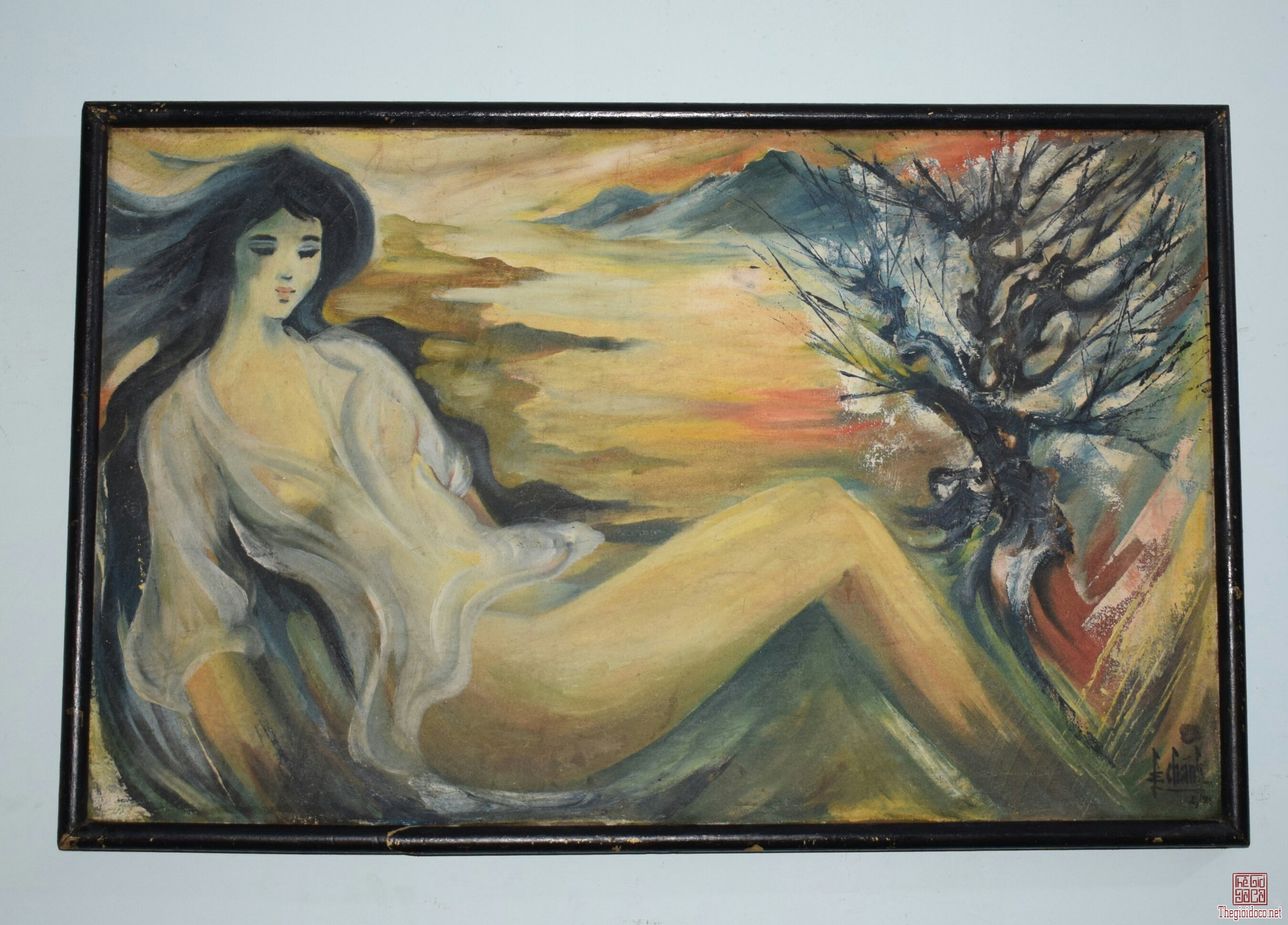 tranh sơn dầu họa sĩ Lê Chánh